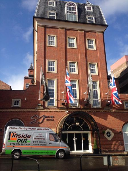 Last day at the newly refurbished St James hotel Nottingham finishing off a 96 window repair and refurbishment project: Swipe To View More Images