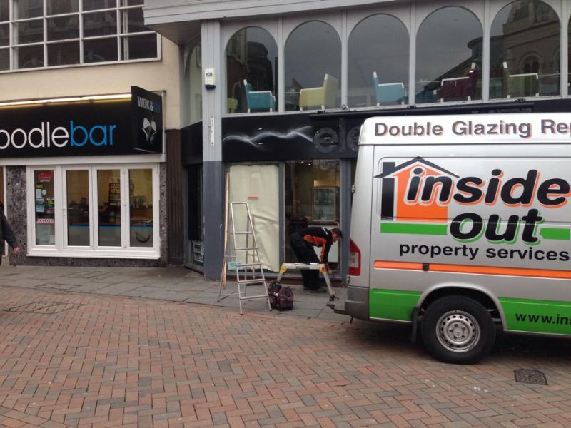 Inside Out replacing another shop plate in hockley Nottingham: Swipe To View More Images
